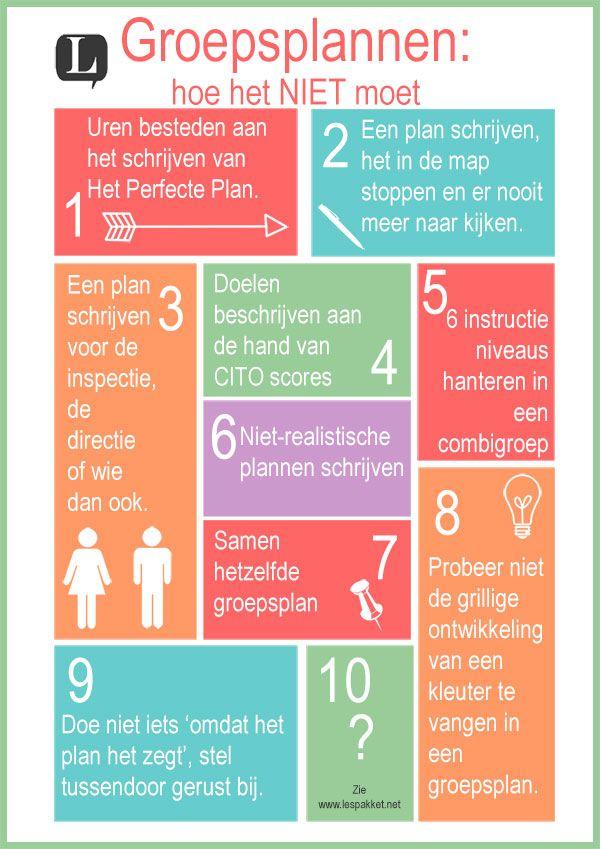 groepsplannen - hoe het NIET moet - jufBianca.nl - tips