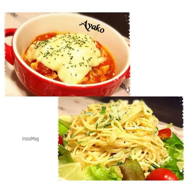 今日は、冷蔵庫の野菜を整理♪ トマトがたっぷり入ったスープご飯に♡ - 123件のもぐもぐ - トマトチーズのスープご飯、明太サラスパサラダ by ayako1015