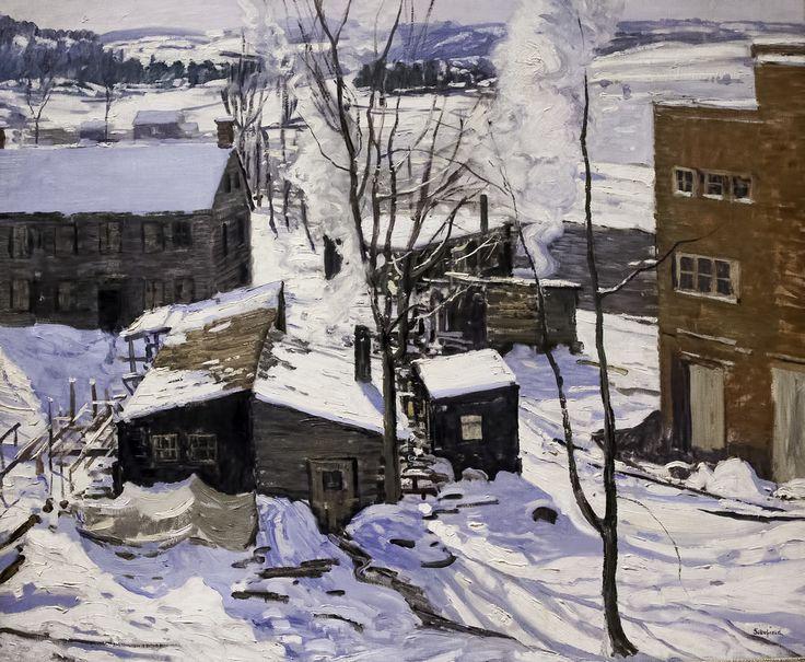 Walter Elmer Schofield (1867-1944) The Powerhouse, Falls Village, Connecticut, 1914.