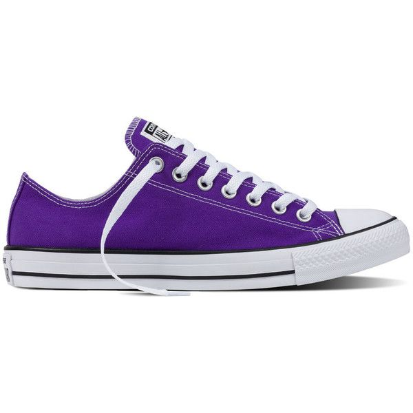 Converse Chuck Taylor All Star Fresh Colors – electric purple Sneakers ($50) ❤ liked on Polyvore featuring shoes, sneakers, electric purple, purple sneakers, converse trainers, star sneakers, low profile shoes and converse shoes