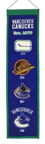 """Vancouver Canucks NHL 8"""""""" x 32"""""""" Heritage Banner Flag Canucks Winning Streak"""