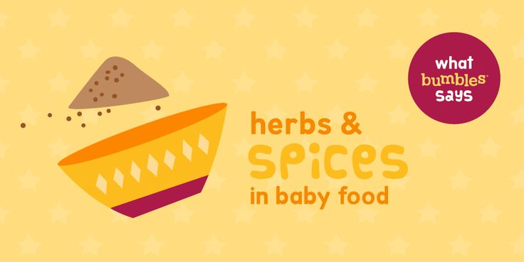 "We all know about the ""super foods"" but what we didn't know until recently is that there are also ""super"" herbs and spices. Bumbles™ shares her favourite herbs & spices that will not only make your baby's food taste even nicer, but could also boost their immune system or provide some relief from ailments.  #herbs #spices #babyfood #healty #immunity"