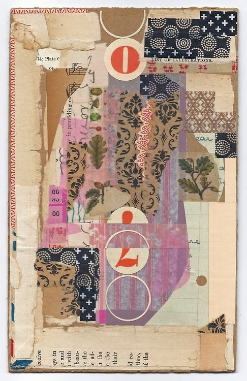 audreysmithart: Abstract exercise # 12 Nov. 2013 Collage on cardboard