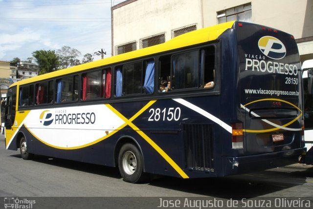Ônibus da empresa Viação Progresso, carro 28150, carroceria Busscar El Buss 340 1995, chassi Mercedes-Benz O-400RSE. Foto na cidade de Barra do Piraí-RJ por José Augusto de Souza Oliveira, publicada em 07/07/2017 18:54:50.