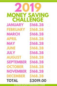 Save $2019 with the 52-Week Money Challenge – 8-2019 savings plan/challenge