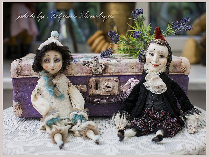 Мастерская «РЫЖАЯ СОНЯ»\   Автор этих замечательных цирковых (балаганных) кукол - Ольга Боро, художница из Ростова-на-Дону.