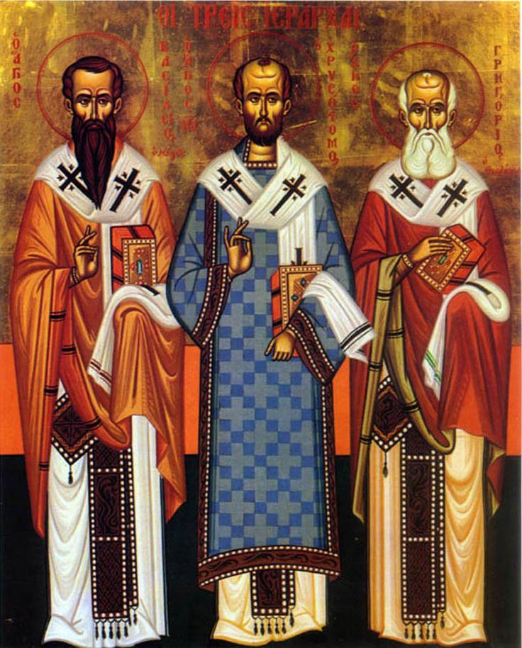 Holy Icons | IcCS3Hier - Orthodox Cross Stitch Pattern Three Holy Hierarchs Icon