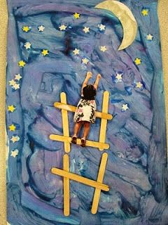 Mrs. Karen's Preschool Ideas: Greatest Art Project EVER!  This would be a great project to go with Papa, Please Get Me the Moon.
