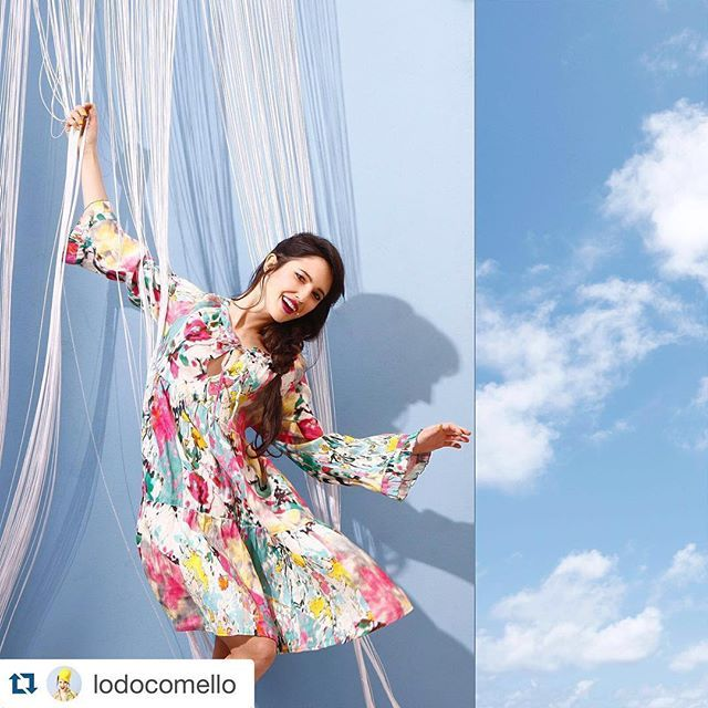 #Repost @lodocomello ・・・ Let's play with floral prints ! In love with this colored @120percento linen dress!  #120percento #120lino #summer #linen