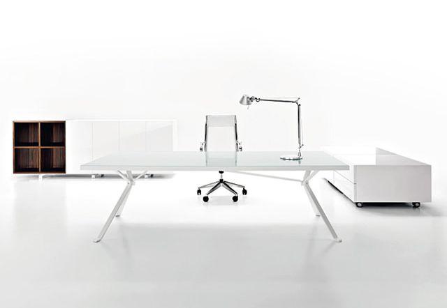 Foldable Steel White Leg Stone Top Office Desks For Sale