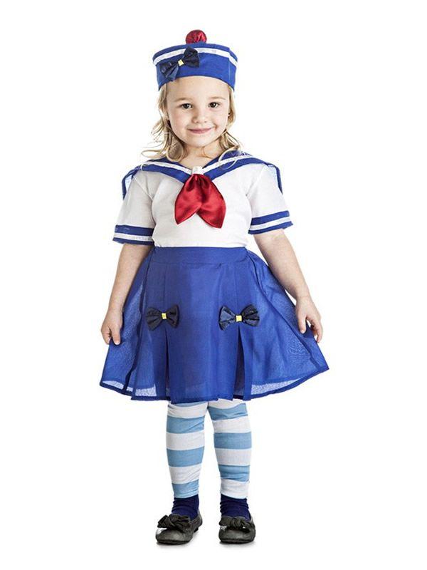 El disfraz de marinera para niña, incluye Blusa, falda, perneras y sombrero. en DisfracesMimo.com