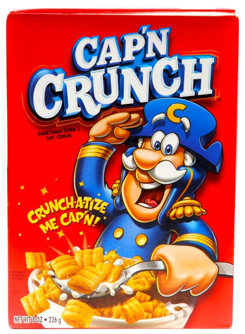 """A Box of Captain Crunch will taste so good""   Kids cereal."
