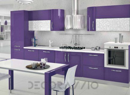#violet #purple #kitchen #furniture #design #interior #styleкомплект в кухню