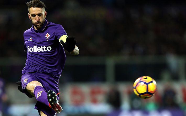 Descargar fondos de pantalla Gonzalo Rodríguez, de la Serie a, fútbol, jugadores de fútbol, Fiorentina