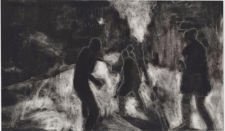 "Silvia Rochhi (italy) ""4"" etching 30 cm x 27.5 cm"
