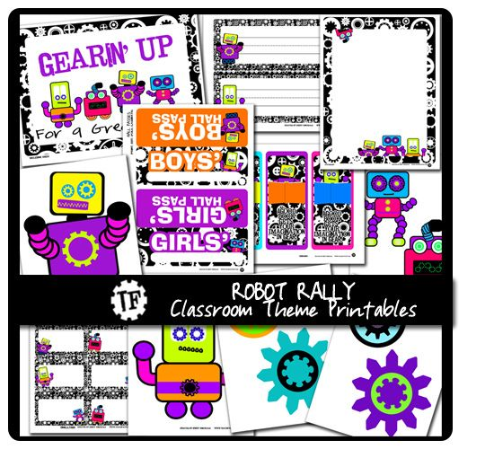 Robot Rally Classroom Theme | Flickr - Photo Sharing!