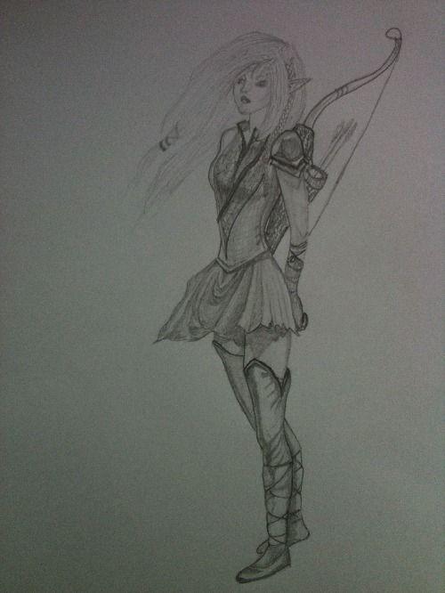GeForce fotka - Moje kresba elfky, tužkou :)