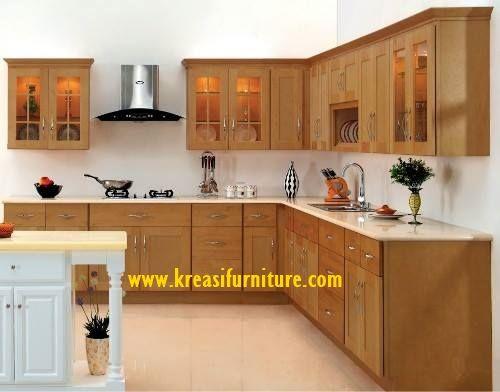 Kitchen Set Model Eropa merupakan kitchen set dengan gaya minimalis mewah yang berbahan dasar kayu jati perhutani serta kontruksi yang kuat dan tahan lama