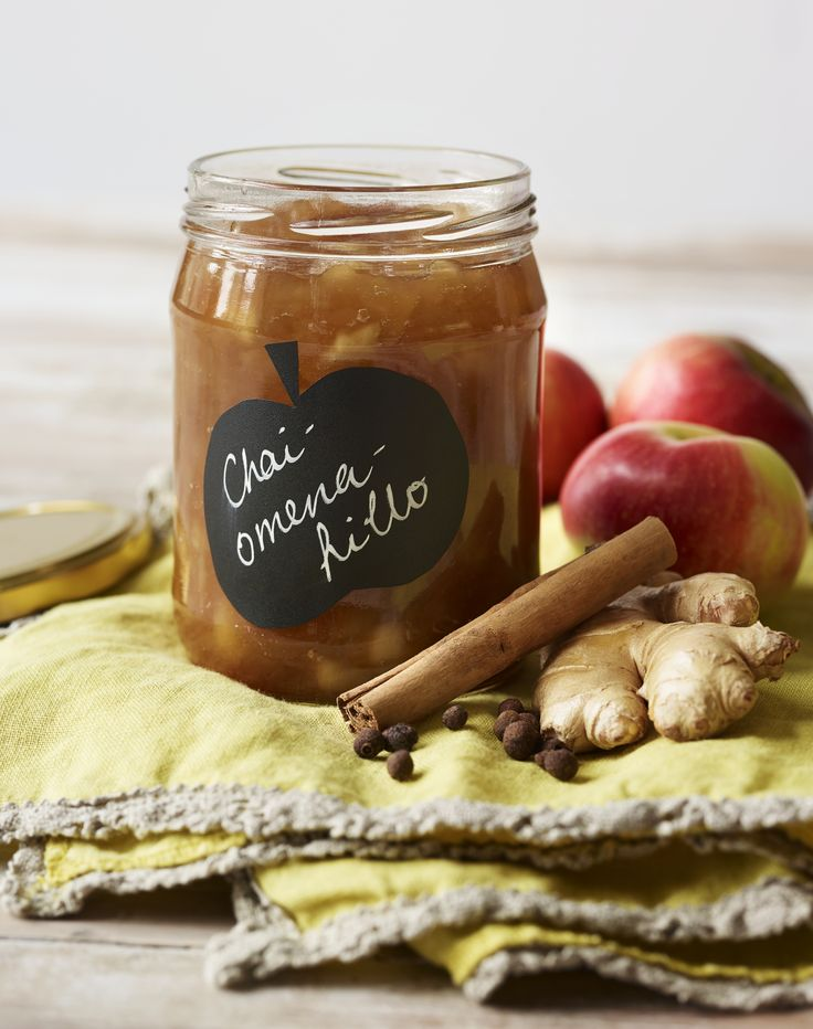 Ihana chai-tee maustaa omenahillon lempeästi <3 #hillo #chai #omena #hillohetki