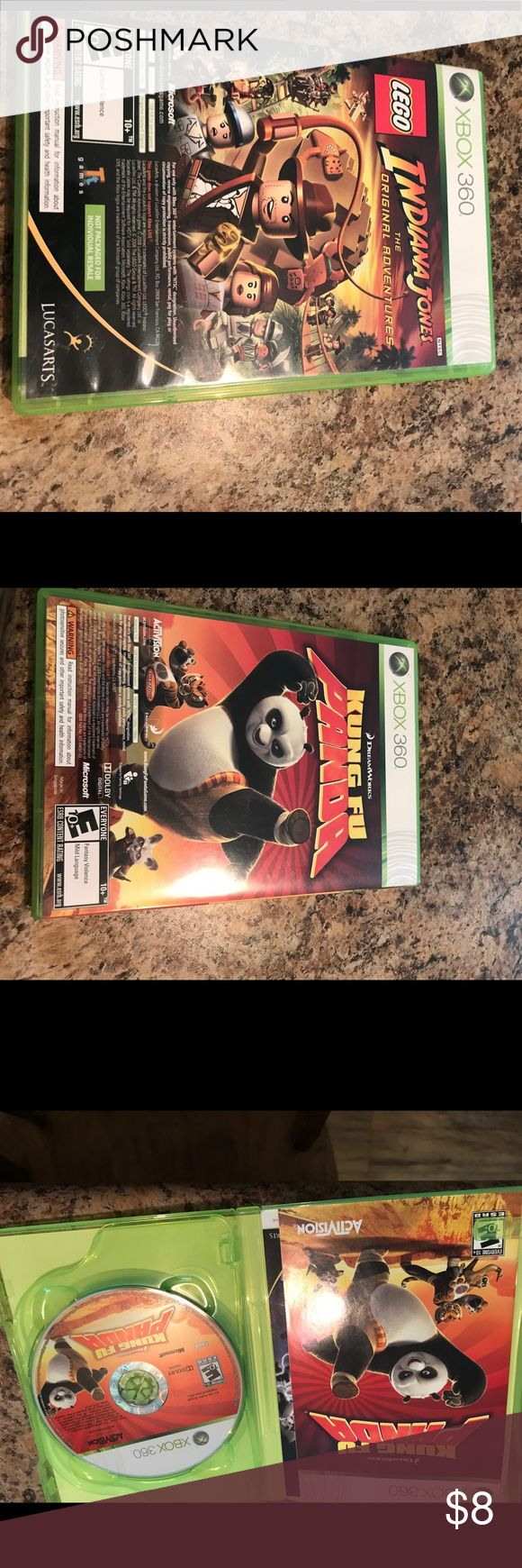 Xbox 360 game 2 in 1 game set. Lego Indiana Jones and Kung Fu Panda. Xbox 360 game. Case and disc are in perfect condition. Other