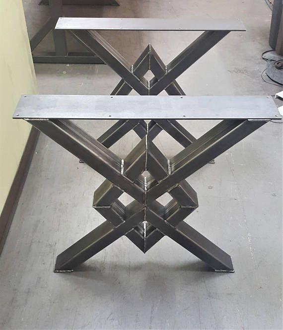 Einzigartige Doppel-Diamond-Esstischbeine, Modell …