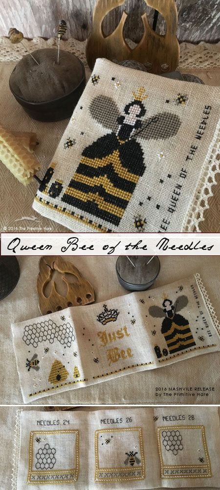Bee Queen of the Needles : The Primitive Hare Isabella Abbiati cross stitch…