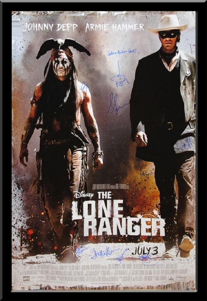 The Lone Ranger Signed Movie Poster Johnny depp movies