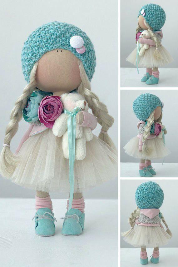 Art doll Cloth doll Stoffpuppe Poupée Tilda doll Handmade doll
