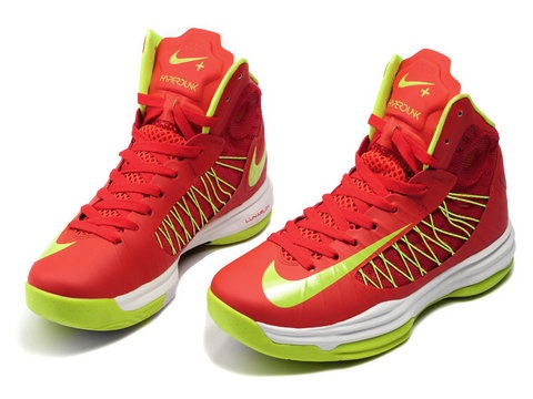 Nike Lunar Hyperdunk 2012 University Red Atonic Green Shoes,Style  code:535359-602