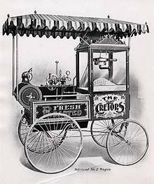 "Although small quantities can be popped in a stove-top kettle, or pot in a home kitchen, commercial sale of freshly popped popcorn employs specially designed popcorn machines, which were invented in Chicago, Illinois, by Charles Cretors in 1885. Cretors successfully introduced his invention at the Columbian Exposition in 1893. At this same world's fair, F.W. Rueckheim introduced a molasses-flavored ""Candied Popcorn"", the first caramel corn; his brother, Louis, slightly altered the recipe…"