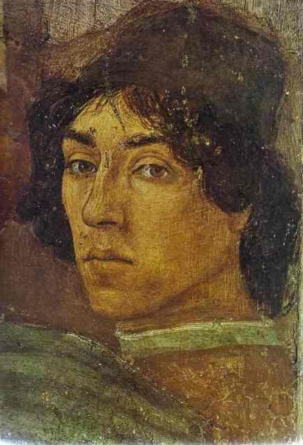 Self Portrait of Fra Filippo Lippi | filippino lippi self portrait 1471 1472 fresco brancacci chapel santa ...