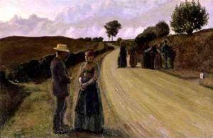 Lovemaking in the evening | Fritz Syberg | 1891