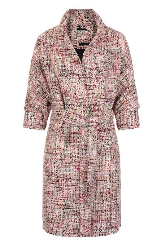 Пальто летнее, розовая полоска. Изысканный образ для прохладных летних дней!