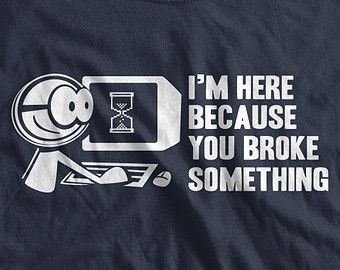 Computer Geek T-Shirt Tech Support I'm Here by IceCreamTees