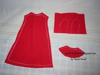 pattern dress for gorjuss doll