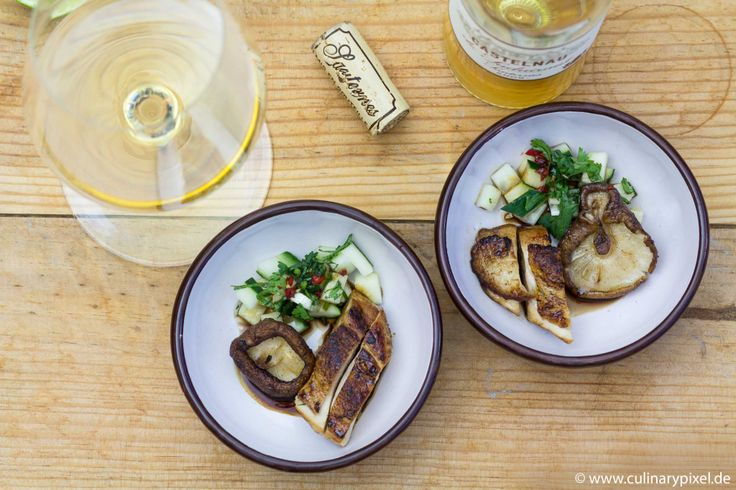Glasierte Hähnchenbrust, Shitake-Pilze & Gurke mit Sauternes von @culinarypixel I #Bordeaux #Wein #Kochen #Asia #Süßwein #Foodpairing #Hähnchen #lecker
