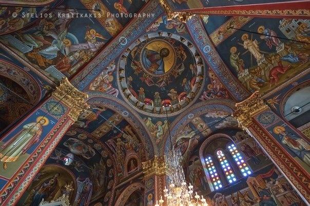 Inside a Greek Orthodox church #Kalamata #Greece