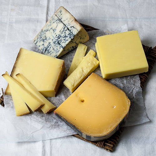 An assortment of four of our favorite cheeses Mountain Gorgonzola, Extra Aged Gouda, Gruyere and Vermont Cheddar Each cheese is an 8 ounce package igourmet's Favorites - 4 Cheese Sampler (30 ounce) by igourmet