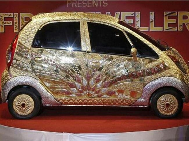 Diamond Encrusted Car: Diamond And Gold Encrusted Car??? Seriously....can't Think
