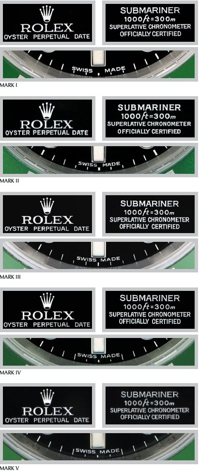 "Ref. 16610LV SUBMARINER DATE The ""green bezel"" model is only a few years old, but it has already been subjected to different changes, renewals which have produced a sort of search for the different dials in the collector's world. http://www.mondanionline.com/collezionare_rolex_submariner-16.php?lingua=en"