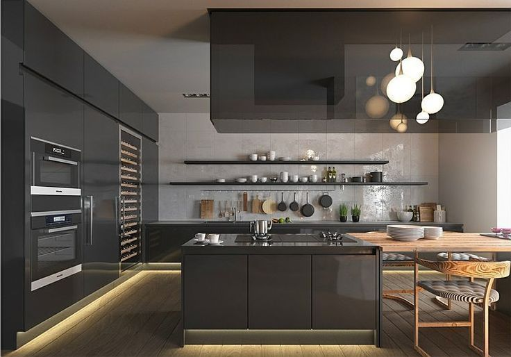 dcoration cuisine moderne ides de dcor pour une cuisine tendance with dcoration cuisine moderne. Black Bedroom Furniture Sets. Home Design Ideas