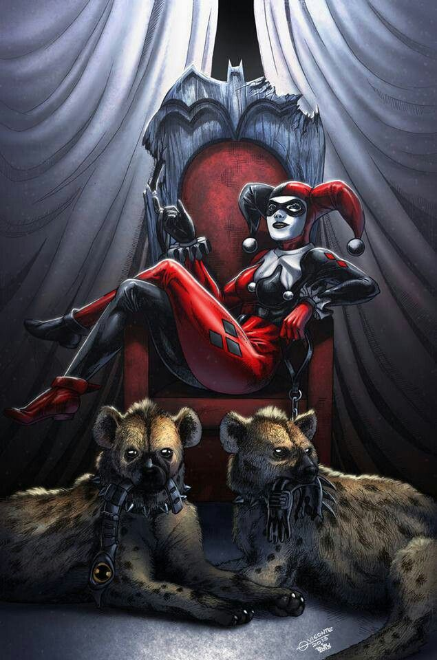 Harley Quinn and her babies bud and Lou