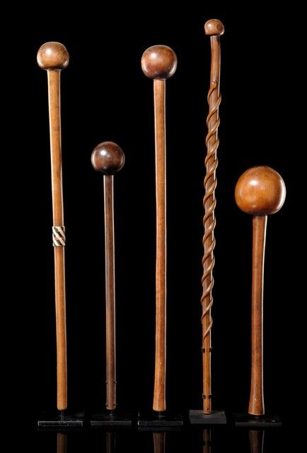 Knobkerrie, South Africa, Zulu. A man always carried one with him, because it was an effective weapon made from hard wood (very often teak), in the absence of guns.