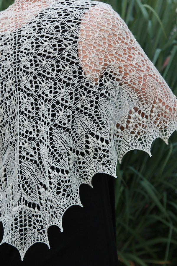 Ravelry: Fragaria Lace Shawl pattern by Alina Appasov  So beautiful, but...stupid nupps!