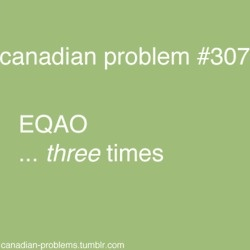 Canadian Problems .... ok, the only people in the world who get this live in Ontario!