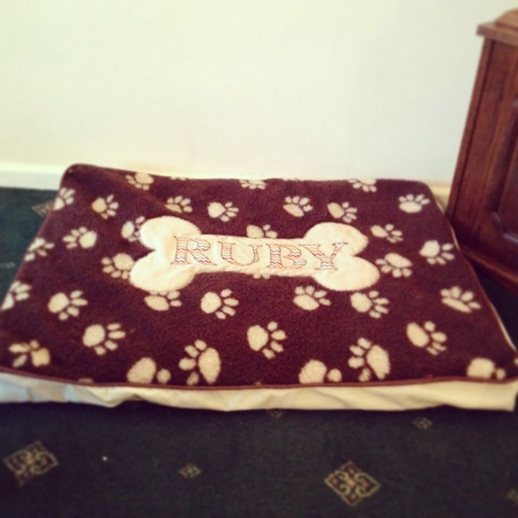 Ruby's Doggie bed - handmade by The Craft Tin