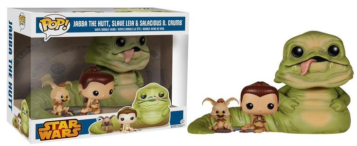 Star Wars Return of the Jedi 3 pack, Jabba the Hutt, Slave Leia and Salacious Crumb, Pop figures by Funko. Walmart exclusive 2015.