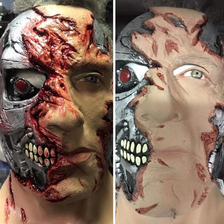 Mask repaint I did . I actually repaint a lot of mask that come into Zombie Gear before I put them out to sale. #zombiegear #mask #masks #props #prop #halloween #halloweencostume #terminator #arnold #paint #painter #painting #latex #movies #horror #blood #bloody #costume #costumes
