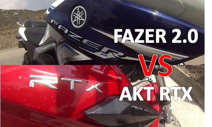 FAZER 2.0 VS AKT RTX Drag Race /Xmotos