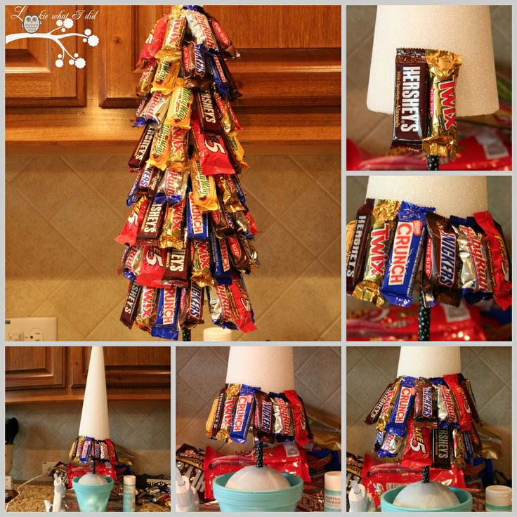 A Candy Topiary - decoration and treat for guests to eat - paint foam first